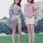 เสื้อแฟชั่นเกาหลีลายสก็อตมี 2 สี thumbnail 1