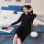 ชุดเซทเสื้อผ้าแฟชั่นเกาหลีพร้อมส่ง เสื้อ+กระโปรงผ้าไหมพรม thumbnail 3