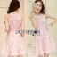 Lady Ribbon Pearl Embellished Pink Dress thumbnail 1