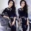 เสื้อผ้าแฟชั่นเกาหลีCliona Crystal Black Luxury Dress - Mini dress thumbnail 1