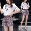 Lady Ribbon Online เสื้อผ้าแฟชั่นออนไลน์ขายส่ง เลดี้ริบบอนของแท้พร้อมส่ง sevy เสื้อผ้า SV06240716 &#x1F389Sevy Two Pieces Of V-Tassel Blouse With Bohemian Shorts Sets thumbnail 4