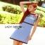 Checked Cotton Dress Lady Ribbon เดรสแขนกุด thumbnail 3