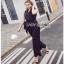 Lady Ribbon Black and White Polkadot Jumpsuit จัมป์สูทผ้าเครป thumbnail 5