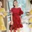 Dress Lady Ribbon ขายเดรสแดงผ้าลินิน thumbnail 1