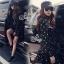 SV09310816 &#x1F389Sevy Star Hip Hop Jacket With Mini Skirt Sets Type: Jacket+Skirt thumbnail 2