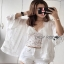 Lady Ribbon Jeanne Sweet Bohemian Embroidered Fringed White Tunic thumbnail 3