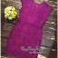 Lady Ribbon Online ขายส่งเสื้อผ้าออนไลน์ Very very pretty เสื้อผ้า VP0110816 Luxurious Floral Embroidery Lace Dress thumbnail 4
