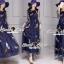 SS03010916 Seoul Secret Say's... Netty Bird Stickly Maxi Dress Material : เนื้อผ้า Net เนื้อนุ่ม สวยหรูด้วยทรงแม๊กซี่ตัวยาว thumbnail 3