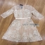 Lady Ribbon Rena Flower Blooming Pastel Lace Mini Dress thumbnail 8