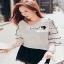 Lace V Blouse เสื้อเก๋ๆ หวานๆ สไตล์เกาหลี thumbnail 1
