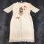 เสื้อผ้าแฟชั่นเกาหลีCliona Cat Lace Long Dress - เดรสลูกไม้สีครีม thumbnail 4