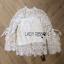 Lady Ribbon White Lace Blouse with Ribbon thumbnail 8