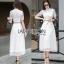 ady Ribbon Lady Leslie ModerMaxi Dress เชิ้ตเดรส สไตล์โมเดิร์นเฟมินีน thumbnail 1