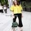 เสื้อปักสีเหลืองผ้าคอตตอนผ้าหนา thumbnail 3