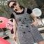 Lady Ribbon Black T-Shirt Dress Set ขายเซ็ตเสื้อยืด thumbnail 7