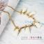 AG1711 - สร้อยหิน สร้อยคอ สร้อยหินนำโชค เครื่องประดับ big geometric necklace collarbone chain thumbnail 9