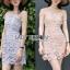 Lady Ribbon Grace Feminine Lace Dress thumbnail 1