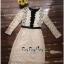 Lady Ribbon Online เสื้อผ้าแฟชั่นออนไลน์ขายส่ง เลดี้ริบบอนของแท้พร้อมส่ง Veryverypreppy เสื้อผ้า VP07240716 Luxury Vintage long-sleeved embroidered Flowers Lace Dress thumbnail 5