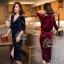 Lovely Beauty Dress เดรสสั้นแฟชั่น เนื้อผ้าเกาหลีกำมะหยี่ thumbnail 1