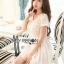 Lady Ribbon Online ขายส่ง เสื้อผ้าออนไลน์ ของแท้ ราคาถูกพร้อมส่ง เลดี้ริบบอน LR14140716 &#x1F380 Lady Ribbon's Made &#x1F380 Lady Cassnadra Pure Elegant Lace and Chiffon White Mini Dress thumbnail 3