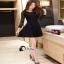 เสื้อผ้าแฟชั่นเกาหลีCliona Black Lace Dress - ลูกไม้นิ่ม เกรดดี thumbnail 4