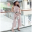 Lady Ribbon Baby Pink Crepe Jumpsuit thumbnail 3