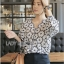 Lady Ribbon Online เสื้อผ้าออนไลน์ขายส่ง Lady Ribbon เสื้อผ้า LR11180816 &#x1F380 Lady Ribbon's Made &#x1F380 Lady Rosie Feminine Flower Embroidered and Laser-Cut Cotton Blous thumbnail 3