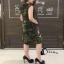 ดเดรสเกาหลีแขนกุดลายทหาร เสื้อผ้าปักเลื่อมรูป thumbnail 4