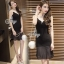 Lady Ribbon Online เสื้อผ้าแฟชั่นออนไลน์ขายส่ง เลดี้ริบบอนของแท้พร้อมส่ง sevy เสื้อผ้า SV05240716 &#x1F389Sevy V Curve Mesh Sleeveless Sexy Dress thumbnail 3