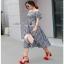 Lady Ribbon Country Style Check Cotton Dress เดรสผ้าคอตตอน thumbnail 6