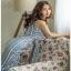 Lady Striped Sleeveless Dress with Ribbon เดรสผ้าเครป thumbnail 2