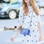 NA08290816 &#x1F389Normal Ally Present New collection autumn boutique blue flower lace set&#x1F389 (เซตเสื้อ + กระโปรง, มีซับในอย่างดีทั้งชุด) thumbnail 5