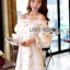 Gold Feather Embroidered Organza Dress เดรสผ้าแก้ว thumbnail 3