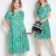 Lady Ribbon Online ขายส่งเสื้อผ้าแฟชั่นออนไลน์ เสื้อผ้า Normal Ally NA14080816 &#x1F389Normal Ally Present flower asian print boutique dress&#x1F389 thumbnail 1