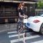 เสื้อผ้าแฟชั่นเกาหลีCliona made'Black Floral Dress thumbnail 2