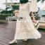 Lady Ribbon Chic Ivory Lace Maxi Dress thumbnail 3