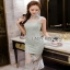 Lady Ribbon Pastel Lace Body Con Dress thumbnail 6
