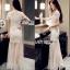 Lady Ribbon Tulle Evening Dress thumbnail 2