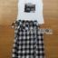 Lady Ribbon Online ขายส่งเสื้อผ้าออนไลน์ เลดี้ริบบอน LR02280716 &#x1F380 Lady Ribbon's Made &#x1F380 Lady Lizzie Street Chic Printed Tank Top and Plaid Shirt Set เซ็ตเสื้อผ้ายืดสี thumbnail 6