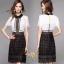 เสื้อผ้าเกรดพรีเมี่ยม กระโปงแฟชั่นแต่งสีดำ นำเข้าเกาหลีสวยมาก thumbnail 3