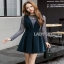 Lady Ribbon Danielle Green Pleated Set Dress thumbnail 3