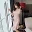 เสื้อผ้าคอกลม แฟชั่นเกาหลีสีชมพูดิ้นทอง thumbnail 2