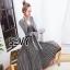 พร้อมส่ง Dress เนื้อผ้างาน Knit เนื้อผ้าพิเศษสวย thumbnail 4