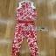 Lady Ribbon Red Floral Printed Collared Top and Pants Set เซ็ตเสื้อและกางเกงขายาว thumbnail 5