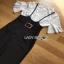 Lady Ribbon Jumpsuit with Belt Set เซ็ตเสื้อลูกไม้ thumbnail 4