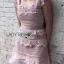 LR04290816 &#x1F380 Lady Ribbon's Made &#x1F380 Self-Portrait Petunia Panelled Midi Dress เดรสผ้าลูกไม้ thumbnail 3