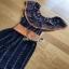 Jumpsuit with Silk Satin Belt Lady Ribbon จัมป์สูทผ้าเครป thumbnail 7