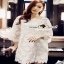 Floral White Lace Dress เรียบหรูสวยหวานด้วยเดรสทรงแขนบาน thumbnail 1