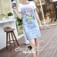 SS19010916 Seoul Secret Say's... Smurffy Chic Denim Dress Material : น่ารักๆ สดใสสไตล์คุณหนู thumbnail 4