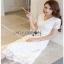 Lady Karen Sweet Feminine Pure White Lace Dress thumbnail 4